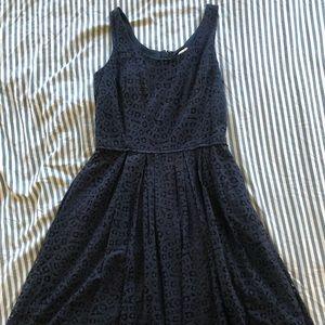 J.Crew A-line Navy Lace Dress